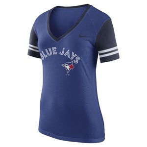 Women's V-Neck T-Shirt Royal by Nike