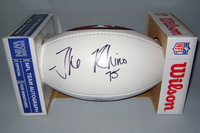 49ERS - ALEX THE RHINO BOONE SIGNED PANEL BALL W/ 49ERS LOGO
