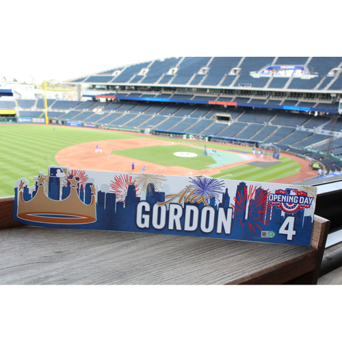 Photo of Alex Gordon 2017 Opening Day Nameplate