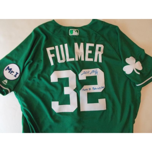 Photo of Autographed Michael Fulmer St. Patrick's Day Jersey