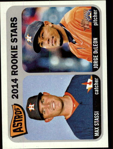 Photo of 2014 Topps Heritage #409 Jorge DeLeon RC/Max Stassi Rookie Card -- Astros post-season