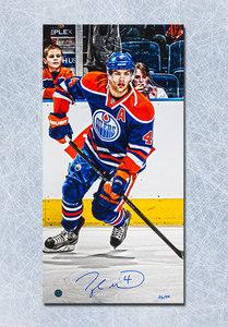 Taylor Hall Edmonton Oilers Autographed Hockey 14x28 Art Canvas #/44