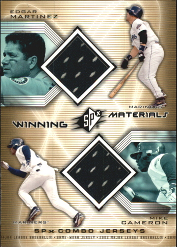 Photo of 2002 SPx Winning Materials 2-Player Jersey Combos #WMMC Edgar Martinez/Mike Cameron