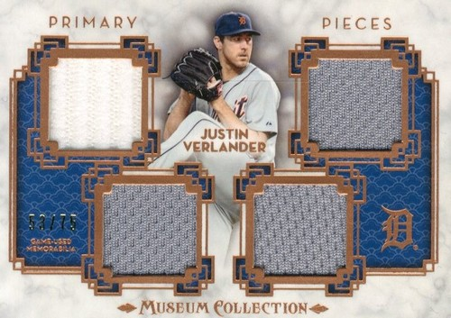 Photo of 2014 Topps Museum Collection Primary Pieces Quad Relics Copper #PPQRJVE Justin Verlander