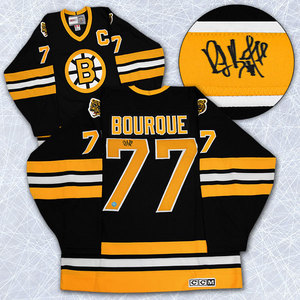 Ray Bourque Boston Bruins Autographed Retro CCM Black Hockey Jersey