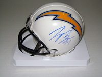 NFL - CHARGERS JOEY BOSA SIGNED CHARGERS MINI HELMET