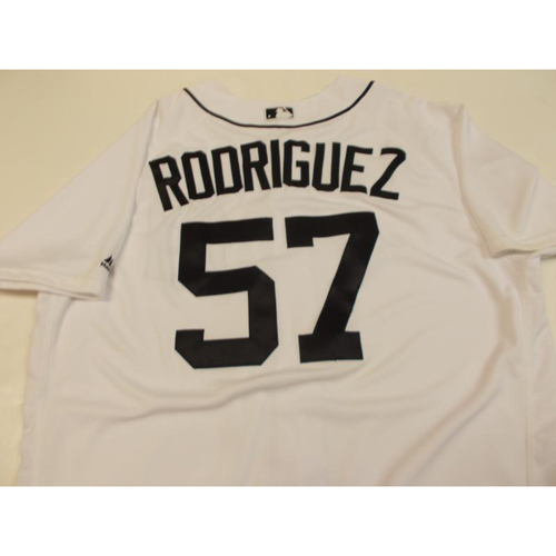 Photo of Game-Used Francisco Rodriguez Home Jersey
