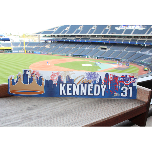 Photo of Ian Kennedy 2017 Opening Day Nameplate