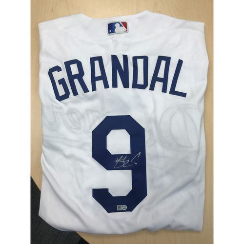 Photo of LADF Blue Diamond Gala Auction: Yasmani Grandal Authentic Autographed Jersey