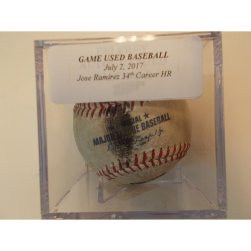 Photo of Player Collected Baseball: Jose Ramirez 34th Career Home Run