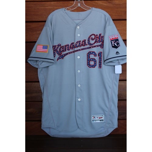 Game-Used Kevin McCarthy 4th of July Road Jersey (Size 48 - KC at SEA - 7/4/17)