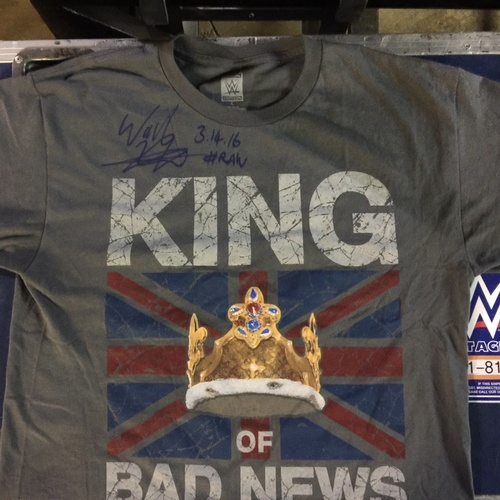 Photo of King Barrett WORN & SIGNED T-Shirt (RAW - 03/14/16)