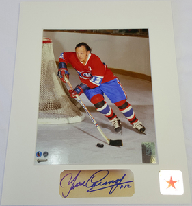 Yvan Cournoyer Signature Montreal Canadiens ROADRUNNER 8x10 Custom Matted Photo