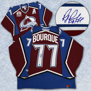 RAY BOURQUE Colorado SIGNED 2001 Stanley Cup Jersey