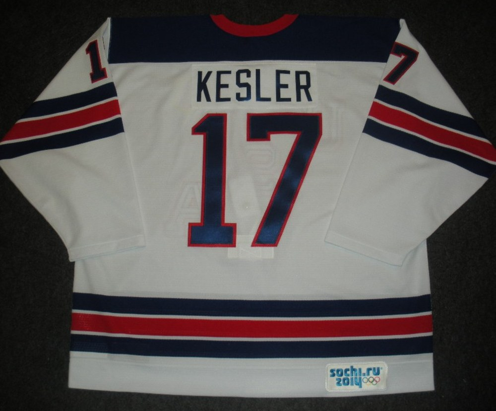 Ryan Kesler - Sochi 2014 - Winter Olympic Games - Team USA Throwback Game-Worn Jersey - Worn in Warmups and 1st Period vs. Slovenia, 2/16/14