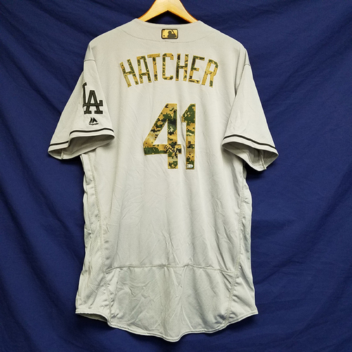 Photo of Chris Hatcher 2016 Game-Used Road Memorial Day Jersey