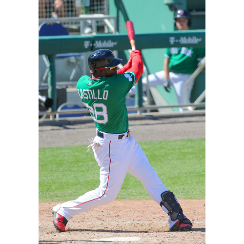 Photo of Red Sox Foundation St. Patrick's Day Jersey Auction - Rusney Castillo Game-Used & Autographed Jersey