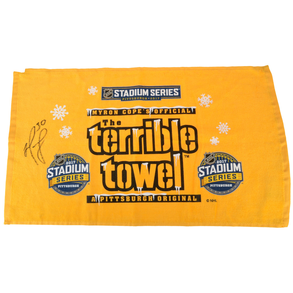 Matt Murray Pittsburgh Penguins Autographed Pittsburgh Steelers Terrible Towel