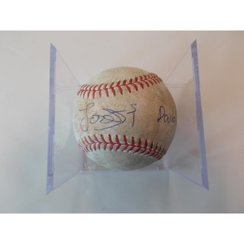 Photo of Autographed Game-Used Baseball: Jose Iglesias Double