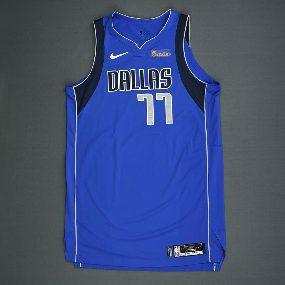 Luka Doncic - Dallas Mavericks - Kia NBA Tip-Off 2018 - Game-Worn NBA Debut Icon Edition Jersey - Worn During 3 Games