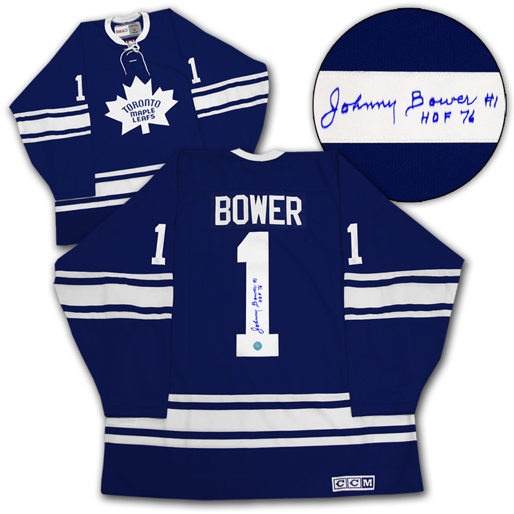 Johnny Bower Toronto Maple Leafs Autographed 1967 Stanley Cup Retro CCM Jersey