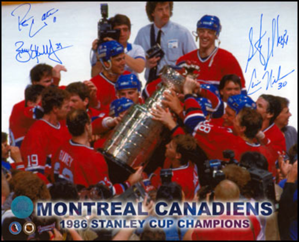 1986 Monteal Canadiens Stanley Cup Signed 8x10: Nilan Skrudland Walter & Richer