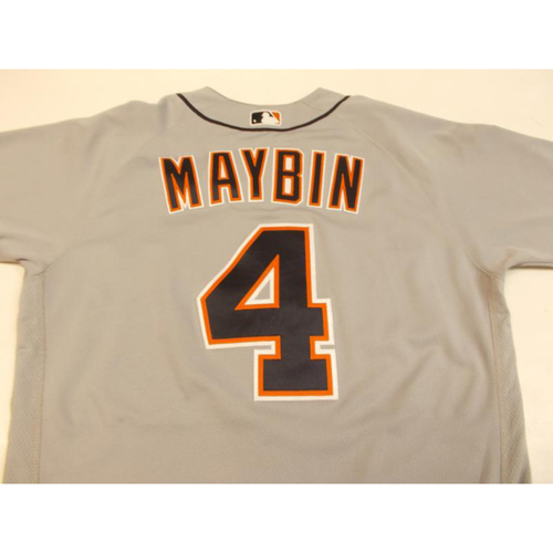 Photo of Cameron Maybin Game-Used Road Jersey