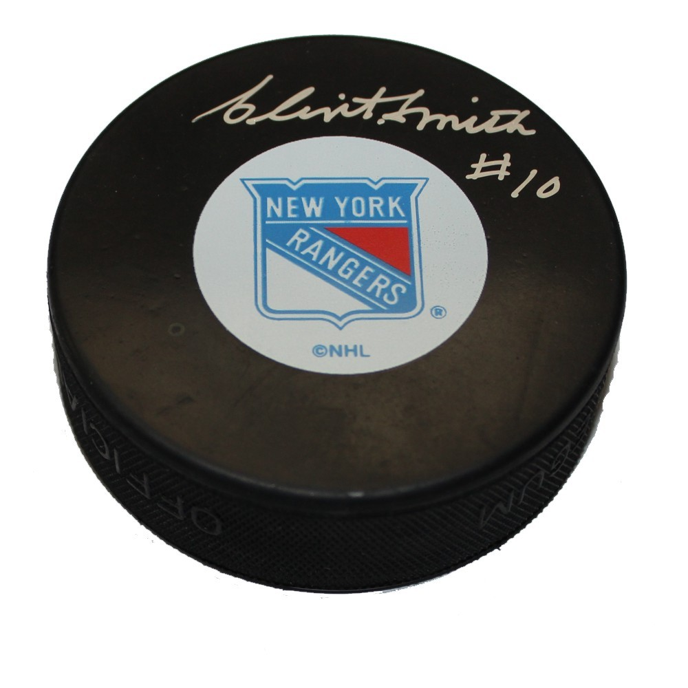 Clint Smith (deceased) Autographed New York Ranger Puck