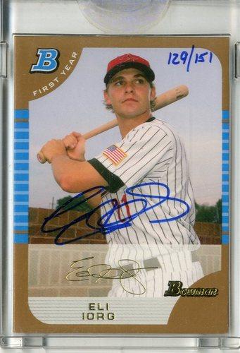 Photo of 2006 Bowman Originals Buyback Autographs #328 Eli Iorg 05 BDPGLD/151 F