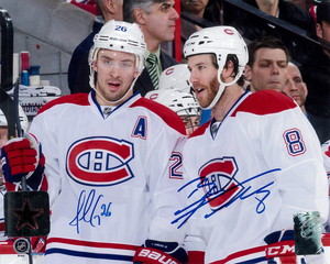 Brandon Prust & Josh Gorges Dual Signed Montreal Canadiens Licensed 8x10 Photo