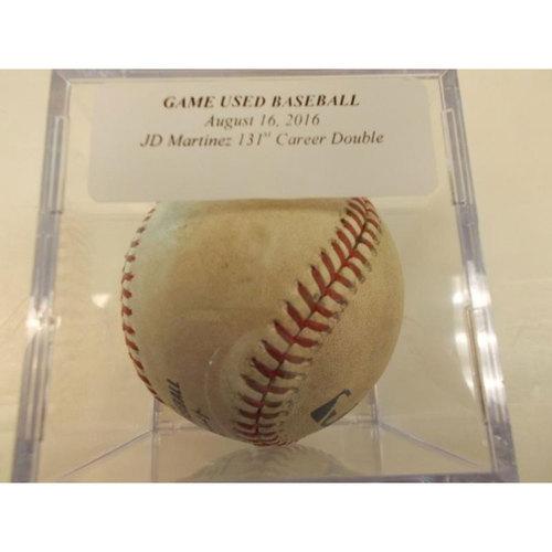 Photo of Game-Used Baseball: JD Martinez 131st Career Double