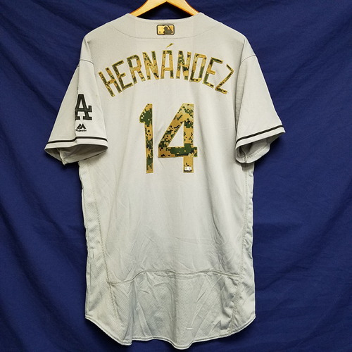 Photo of Enrique Hernandez 2016 Game-Used Road Memorial Day Jersey