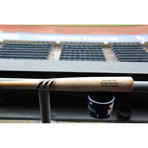 Photo of Alcides Escobar Game-Used Broken Bat (September 12, 2016 - OAK at KC)