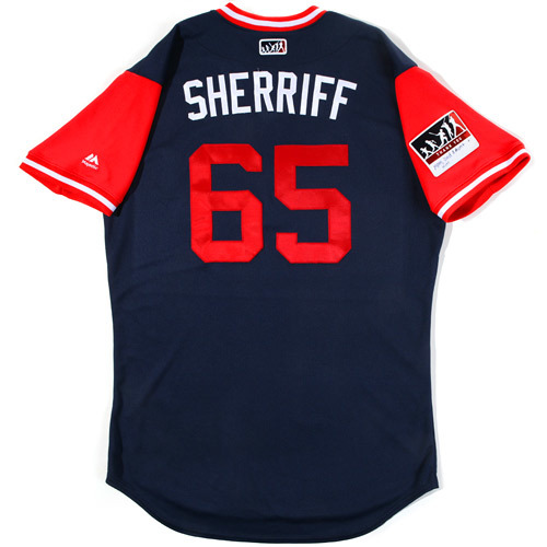 "Photo of Ryan ""Sherriff"" Sherriff St. Louis Cardinals Game-Used Players Weekend Jersey"
