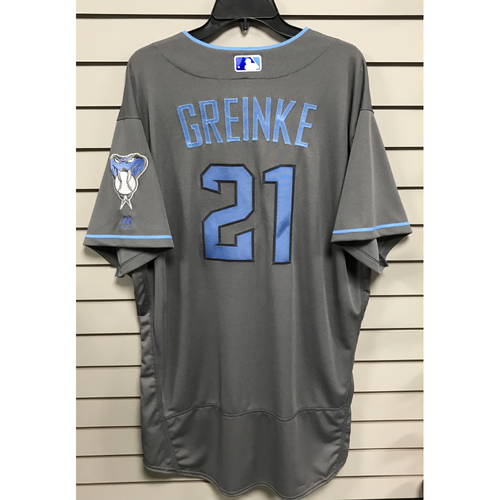 Photo of Zack Greinke Team-Issued 2017 Father's Day Jersey