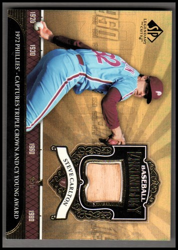 Photo of 2006 SP Legendary Cuts Baseball Chronology Materials #SC2 Steve Carlton Phils Bat