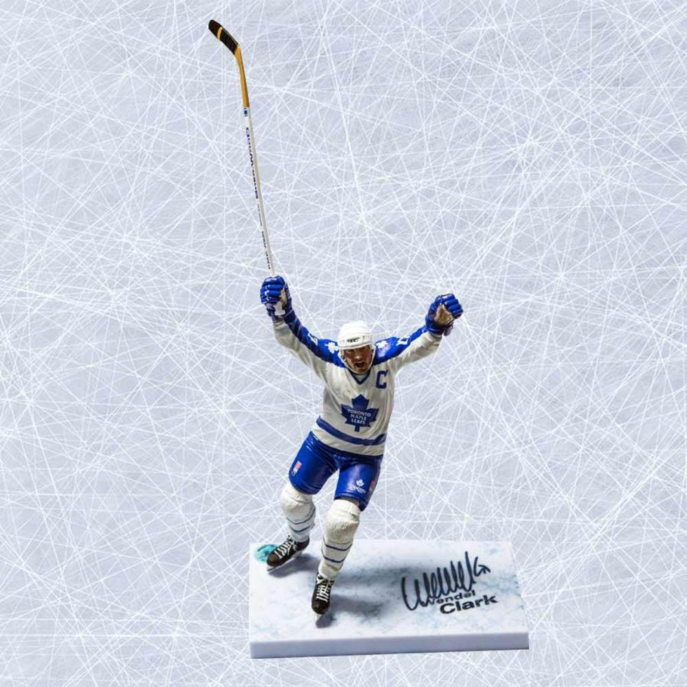 Wendel Clark Toronto Maple Leafs Autographed McFarlane Sports Picks Figure