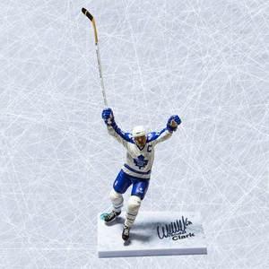 Wendel Clark Toronto Maple Leafs Autographed McFarlane Figure