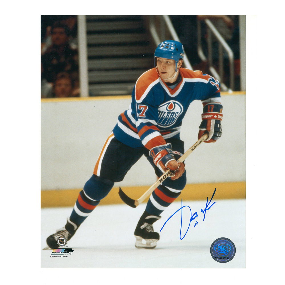 JARI KURRI Signed Edmonton Oilers 8 X 10 Photo - 70481