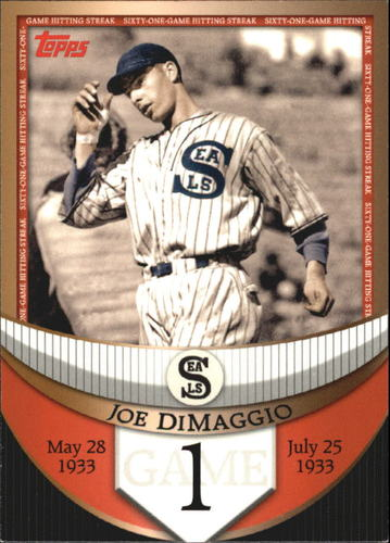 Photo of 2007 Topps DiMaggio Streak Before the Streak #JDSF1 Joe DiMaggio