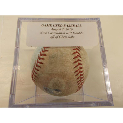 Photo of Game-Used Baseball: Nick Castellanos RBI Double off Chris Sale