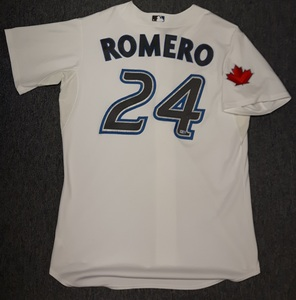 Toronto Blue Jays Authenticated Game Used Home Opener 2010 Jersey - #24 Ricky Romero
