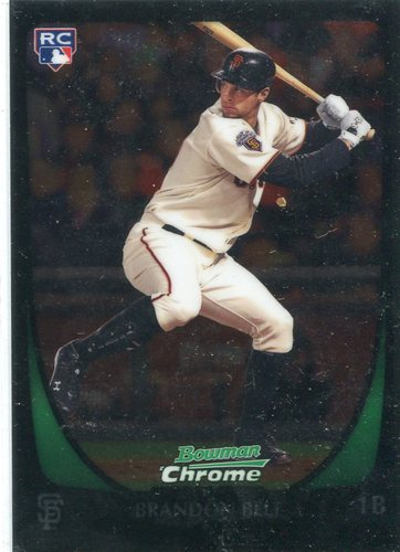 Photo of 2011 Bowman Chrome #203 Brandon Belt RC