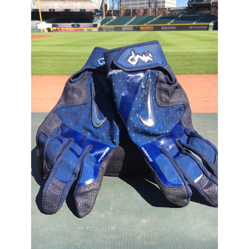 Photo of Harvey Relief Auction - Dansby Swanson Batting Gloves - Blue