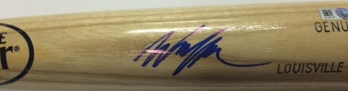 Photo of Wil Myers Autographed Blonde Louisville Slugger Bat