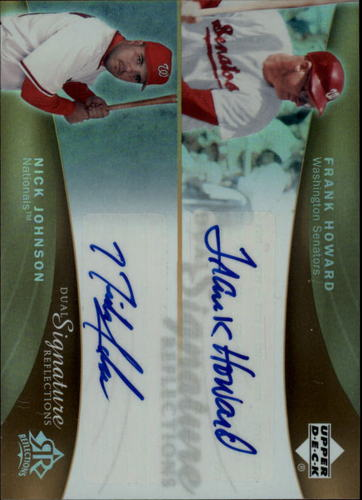 Photo of 2005 Reflections Dual Signatures #FHNJ Frank Howard/Nick Johnson T3