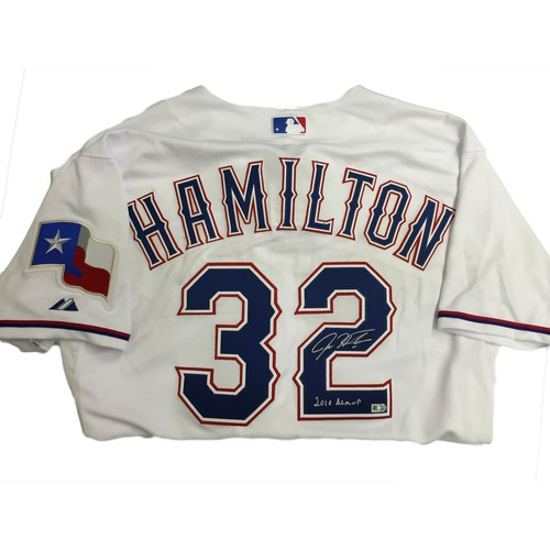 "Photo of Josh Hamilton Autographed ""2010 AL MVP"" Texas Rangers Authentic Jersey"