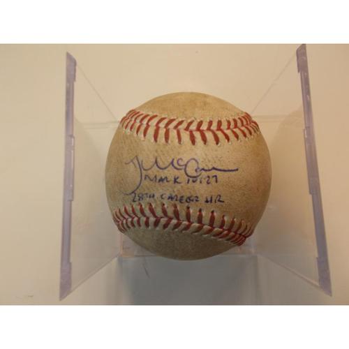 Photo of Player Collected Baseball: James McCann 28th Career Home Run