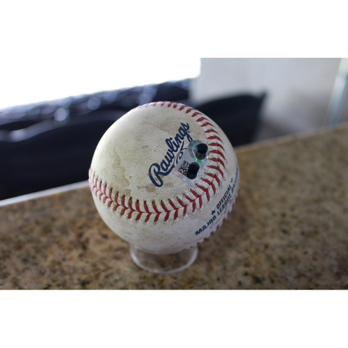 Photo of Game-Used Baseball: Francisco Lindor 86th Career Double (CLE at KC - 8/20/17)