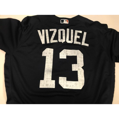 Photo of Team-Issued Road Spring Training Jersey: Omar Vizquel